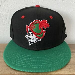 NWOT New Era Albuquerque Dukes Isotopes MiLB 59Fifty Fitted Hat 7 1/4 Green Red