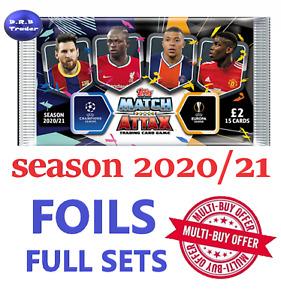 Match Attax 2020/21 20/21 Mega Tin FULL SETS Rising Stars Star Players 100 Club
