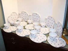 12 NORITAKE 3090 PINK MINI ROSE SNACK PLATES SET