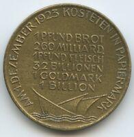 """GX1095 - Medaille Inflation """"Des deutschen Volkes Leidensweg"""" 1. Dezember 1923"""