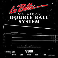 "LA BELLA S300 DOUBLE BALL END ""STEINBERGER"" BASS STRINGS, 5 string set, 45-128"
