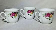 Markenporzellan Schloß Amalienburg 3 Mocca/Espresso-Tassen mit Blumendecor