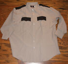 Men's Flying Cross Two Tone Brown Police Shirt The Command Shirt Size 18.5-34