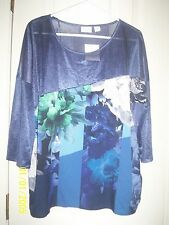 Jaclyn smith Blue/Floral Blouse Sz XXL NWT