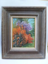 "Original Oil Painting ""The Fence"" by Listed Artist Margaret Holland Sargent"
