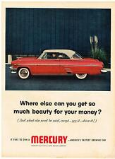 Vintage 1954 Magazine Ad Mercury Where Else Can You Get So Much Beauty For Money