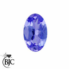 BJC® Loose Oval Brilliant Cut Natural Untreated Tanzanite Stones AAAA Grade