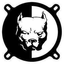 Pit Bull pitbull Attenti al cane warning dog etichetta sticker 11cm x 12cm