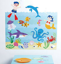 Aquarium Olive Kids Play on Walls Ocean Turtle Fish Sea Life Instant Removable S
