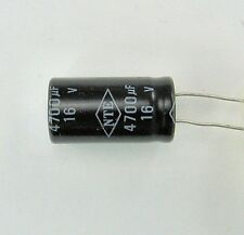 NTE 4700 uf 16V Electrolytic Capacitor Radial 20% Pre-Tested Aluminum ufd mf mfd
