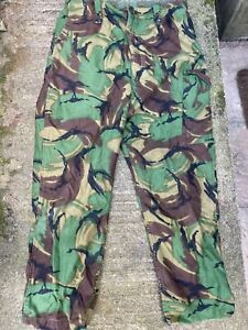 BRITISH ARMY CADET FORCES DPM LINED COMBAT TROUSERS 68 PATTERN  - 76/94/112