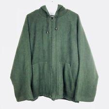 Venezia Womens Coat 14/16 Wool Blend Hooded Full Zip Jacket Olive Green o312