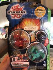 Bakugan battle brawler starter 3 pack Bakuswap Pyrus Dragonoid 660G Exedra B2
