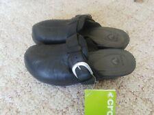 Crocs Cobbler Buckle Black  Slip On Mule Clog Shoes Size 8 NWT
