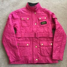 BARBOUR INTERNATIONAL POLARQUILT PINK GIRLS JACKET SIZE XL 12-13 YRS BNWT