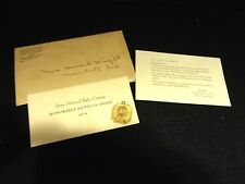 24K Gold Plated Honorable Mention Sears Baby Contest Pendant & Papers 1934