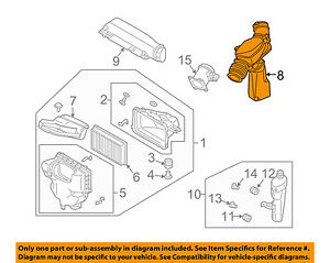 Infiniti NISSAN OEM 03-08 FX35 3.5L-V6 Air Intake-Air Duct 16576CG00A