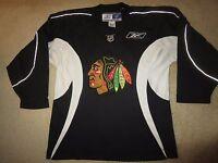 Chicago Blackhawks Black Sewn Hockey NHL Jersey LG L