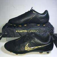 Nike Phantom Venom Elite FG ACC Soccer Cleats Men US sz 10 AO7540-077 Black/Gold