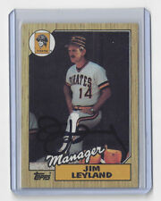 1987 PIRATES Jim Leyland signed card AUTO Topps #93 Autographed Pittsburgh Mgr