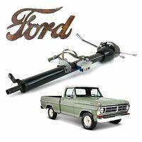 "Keyed Black Tilt Steering Column 33"" Fits 67-79 Ford F-150 Truck Perkins"