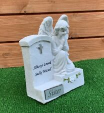 Angel by Headstone for for SISTER  Grave cemetery memorial ornament