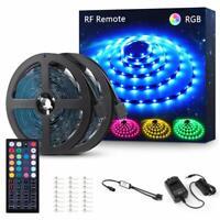 Novostella 40ft RGB 5050 LED Strip Tape Light kit Smart Flexible 44Key RF Remote