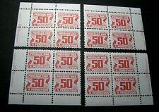 Canada Stamp Scott# J40 Postage Due 1969-78 Marched Blocks MNH H91