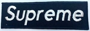 Supreme Black Skatboarding Hip Hop  Iron on or Sew on Embroidered Patch