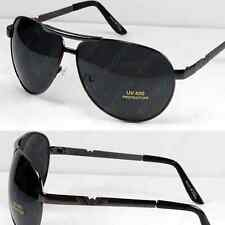 Mens Pilot Aviator Sunglasses Shades Retro Fashion Designer Wrap Large Classic