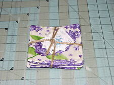 1 Set  4 Coasters Lilac 2 cream handmade in maine Carols Country Crafts floral