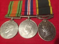 Womans Efficiency medal Territorial to ATS Auxiliary Service WW2 Pair Cpl