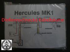 Hercules MK1 Kabelbaum Kabelsatz Nachbau incl. farbigem Schaltplan