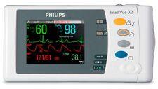 Philips IntelliVue X2 - M3002A w/ ECG, Masimo SpO2, Nibp, Temp, IBP SN DE950460