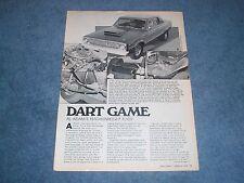 "1965 Dodge Dart Vintage Street Machine Article ""Dart Game"" ---From 1978---"