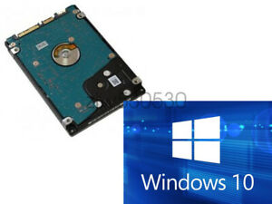 """HDD/SSD 2.5"""" SATA Hard Drive Laptop with Windows 10 Pro Installed (Legacy)"""