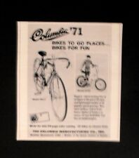 1971 Columbia Bicycles~Model # 0150 & #5612 Boys Toy Vintage Bike Promo Print AD