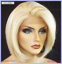 SYNTHETIC HUMAN HAIR BLEND LACE FRONT WIG  COLOR FS613.27  Cute Bob Style 1060