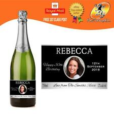 PERSONALISED PROSECCO PHOTO BOTTLE LABEL BIRTHDAY ANY OCCASION GIFT