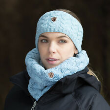 Equetech Ladies Contour Knit Loop Scarf- Frost Blue (Loop Scarf Only)