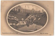 Brussels Exhibition, 1910, The Gardens PPC, 1910 Exhibition PMK
