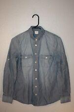 J. Crew women's Denim blouse size S 100% cotton comfy soft!