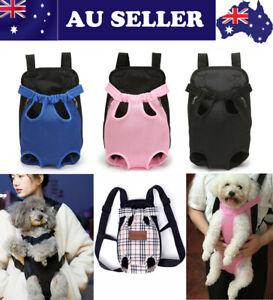 Pet Carrier Dog Cat Puppy Front/Back Backpack Shoulder Carry Sling Pouch Bag #AU