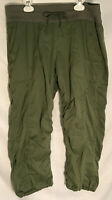 THE NORTH FACE Womens packable Hiking Capri Cropped Drawstring pants size L