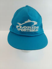 Florida Sportsman Fishing Hat by Yupoong Cap Baseball Cap Adjustable Hat Blue
