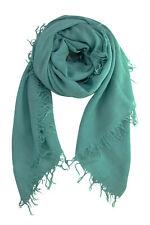 Chan Luu Cashmere & Silk Scarf Wrap Solid MINERAL BLUE BRH-SC-140