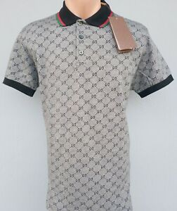 New Gucci Polo men's g models Fast Shipping 2-4 Days Color Gray Blue Brown