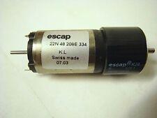 GENUINE ESCAP 22N48208E334 18V dc MOTOR + K24 128:1 GEARHEAD = 48 rpm SWISS MADE