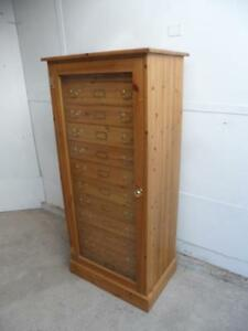 An Amazing Late 20th Century Handmade Pine 12 Drawer Collector's Chest