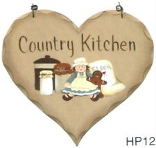 """8x7"""" Wood Vintage items COUNTRY KiTCHeN Wall gingerbread  Wooden Heart sign"""